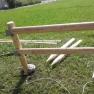 medinių stulpų montavimas